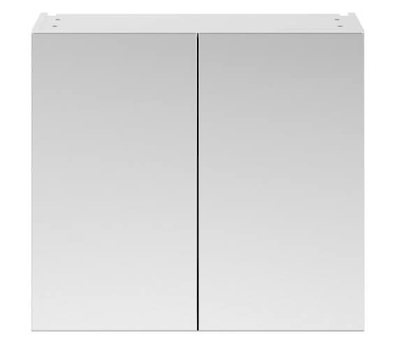 Hudson Reed Fusion 800mm Double Door 50-50 Compact Mirror Cabinet
