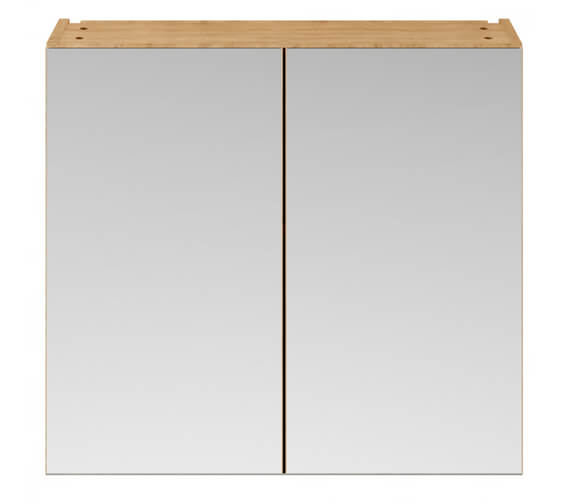 Additional image of Hudson Reed Fusion 800mm Double Door 50-50 Compact Mirror Cabinet