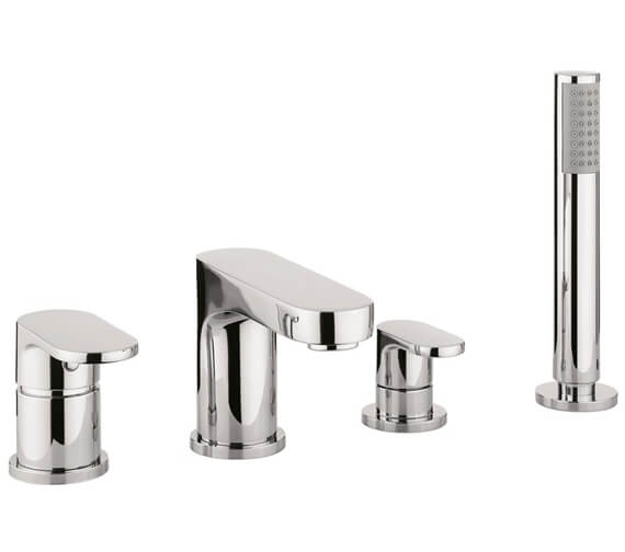 Crosswater Style 4 Hole Set Bath Shower Mixer Tap With Kit