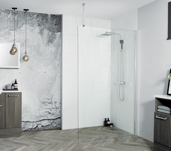 Aquadart Wetroom 8 Walk-In Shower Glass Panel
