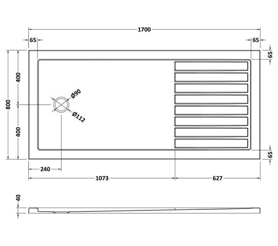 Technical drawing QS-V93800 / NTP1480