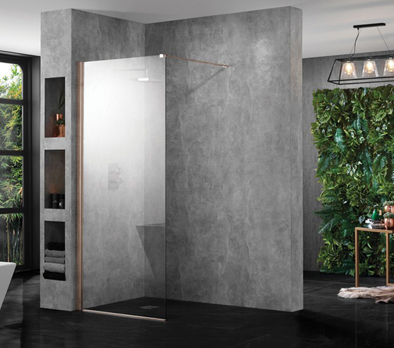 Additional image of Aquadart Wetroom 2000mm High 10 Walk-In Shower Glass Panel