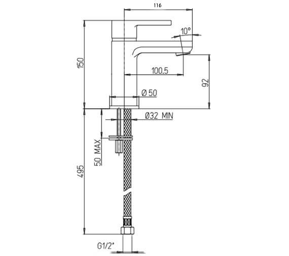 Technical drawing QS-V88652 / NV110DNC