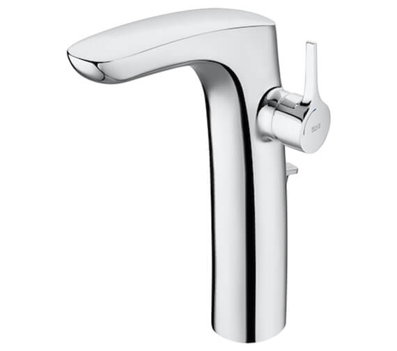 Additional image of Roca Insignia Extended Height Basin Mixer Tap With Smooth Body