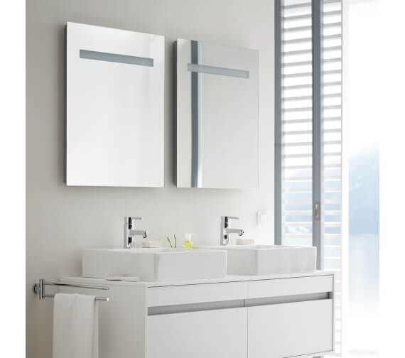 Duravit Ketho 750mm High Mirror With Lighting