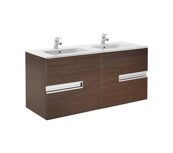 Additional image of Roca Victoria-N 1200mm Gloss White Vanity Unit With 4 Drawer