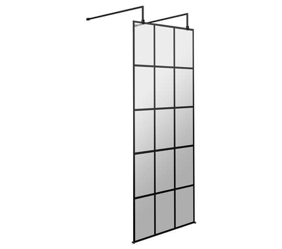 Hudson Reed Black Frame Shower Screen With Arms And Feet
