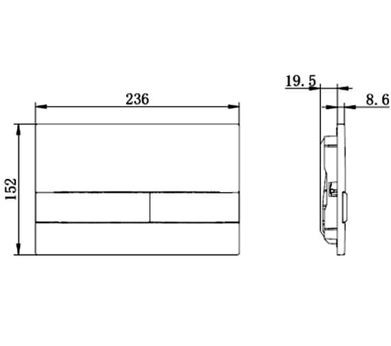 Technical drawing QS-V88642 / ANFLUSHC