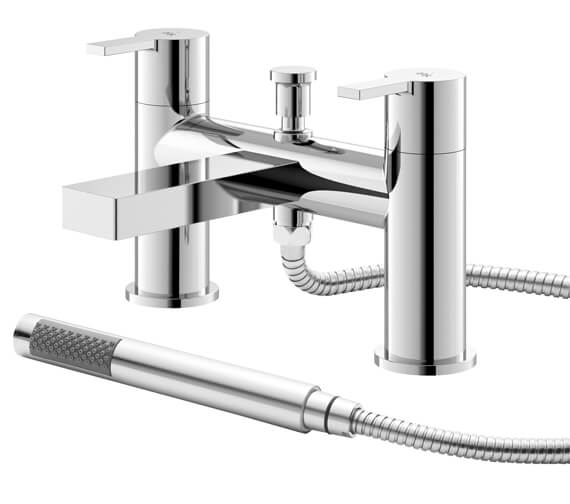Hudson Reed Willow Deck Mounted Bath Shower Mixer Tap With Kit