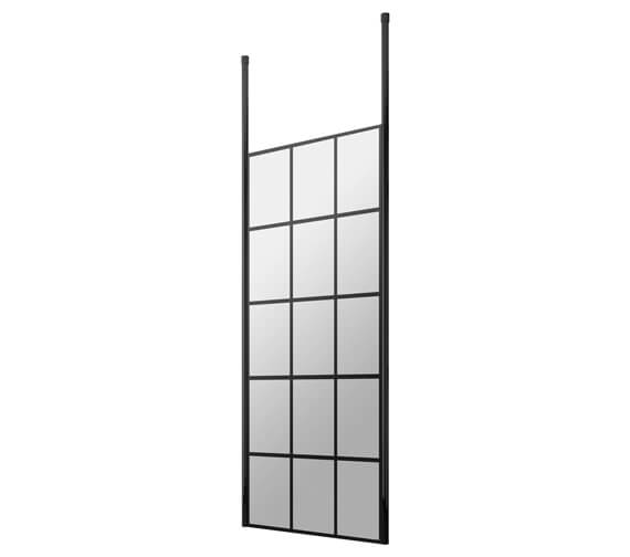 Hudson Reed Black Frame Shower Screen And Ceiling Post