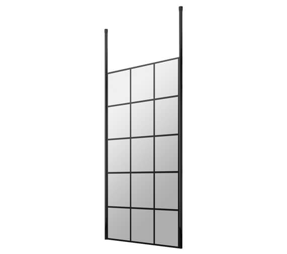 Alternate image of Hudson Reed Black Frame Shower Screen And Ceiling Post