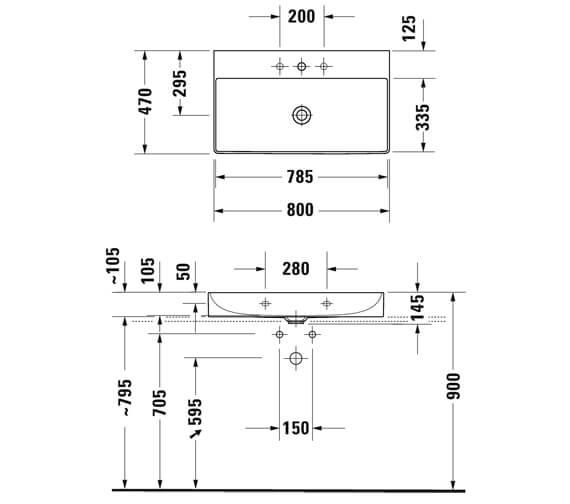 Technical drawing QS-V96215 / 2353800079