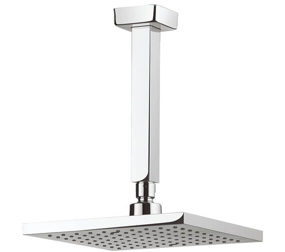 Crosswater Planet Square Fixed Head With 200mm Ceiling Arm