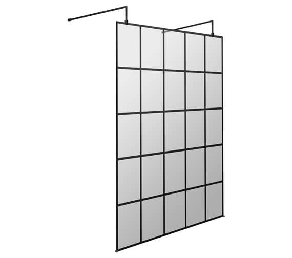 Alternate image of Hudson Reed Black Frame Shower Screen With Arms And Feet