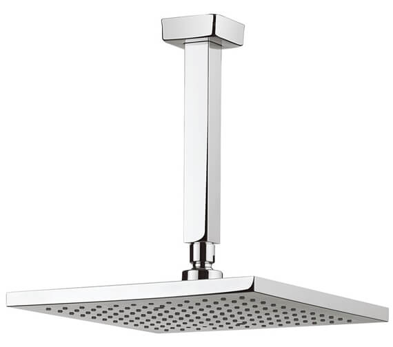 Additional image of Crosswater Planet Square Fixed Head With 200mm Ceiling Arm