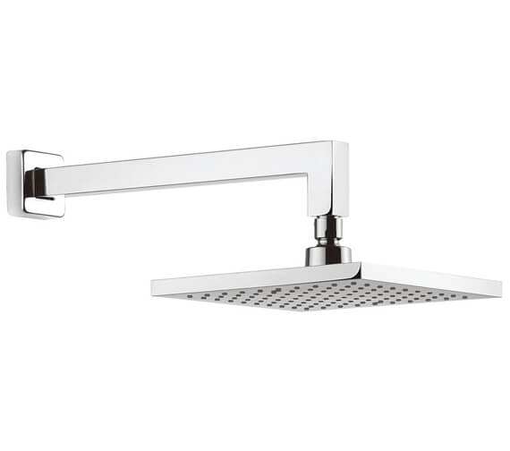 Crosswater Planet Square Fixed Head With 340mm Wall Arm
