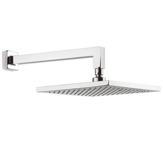 Alternate image of Crosswater Planet Square Fixed Head With 340mm Wall Arm
