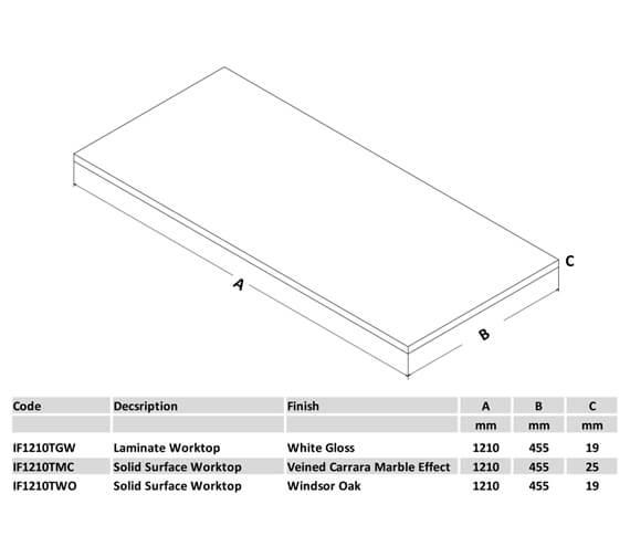 Technical drawing QS-V88803 / IF1010TGW