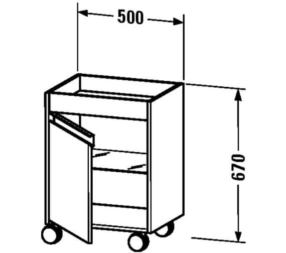 Technical drawing QS-V59265 / KT2530L1818