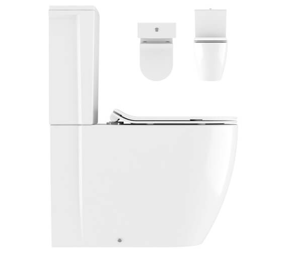 Crosswater Kai Compact Close Coupled WC Pan With Cistern And Soft Close Seat