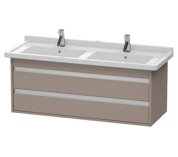 Alternate image of Duravit Ketho 1200 x 465mm Wall Mounted 2 Drawer Vanity Unit