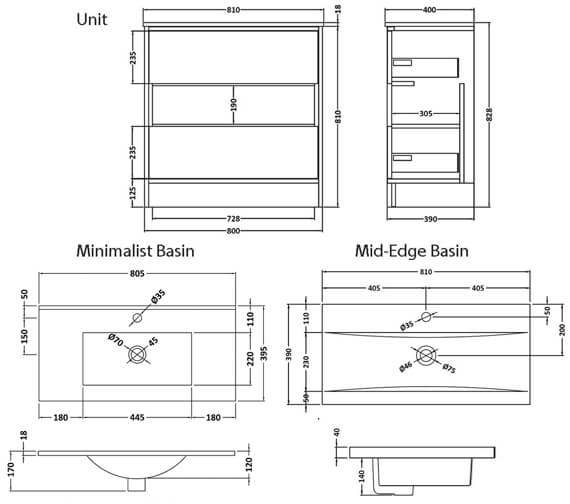 Technical drawing QS-V98033 / CST885