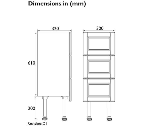 Technical drawing QS-V100611 / FFDGR3DBU