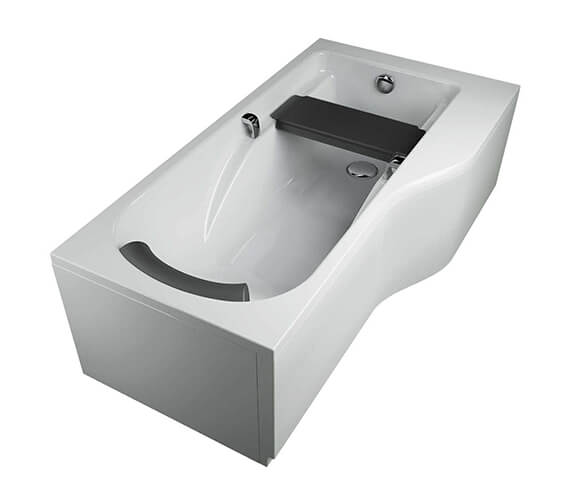 Alternate image of Twyford All 1700 x 900mm Offset Family Bath With Grip