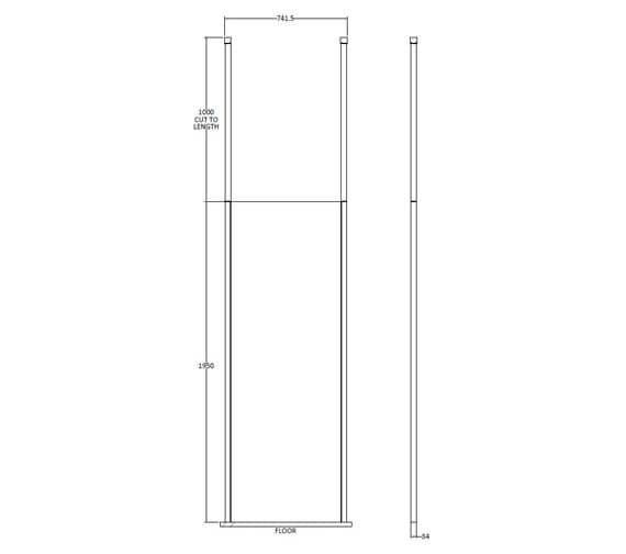 Technical drawing QS-V93804 / BGPCP070