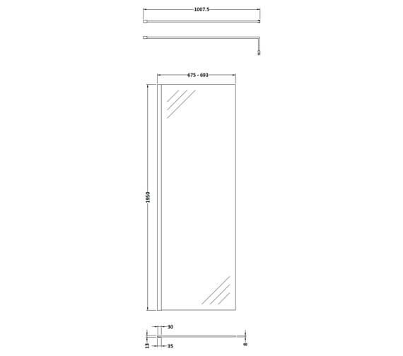 Technical drawing QS-V93805 / WRSBP70