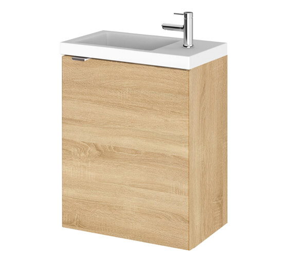 Additional image of Hudson Reed Fusion 400mm Wall Hung Full Depth Vanity Unit And Basin