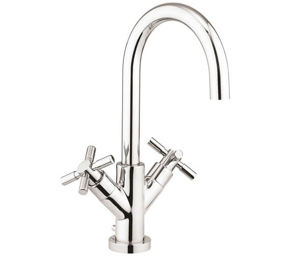 Crosswater Totti II Deck Mounted Basin Monobloc Tap With Pop Up Waste