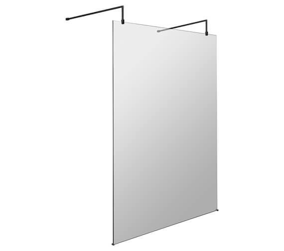 Alternate image of Hudson Reed Black Wetroom Shower Screen With Arms And Feet