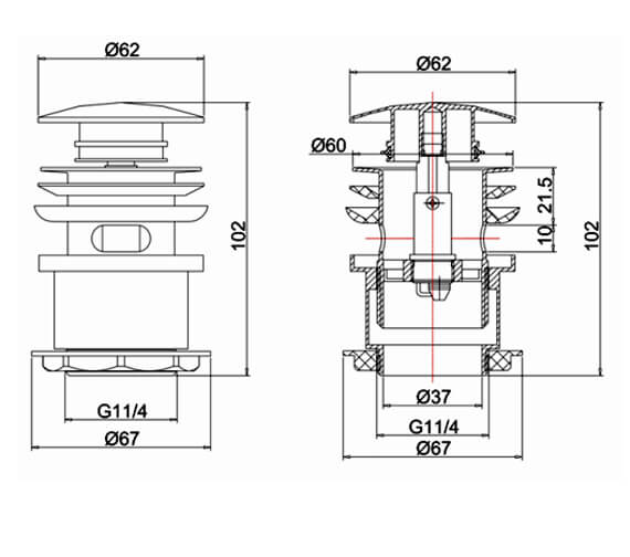 Technical drawing QS-V78058 / MBWA0103