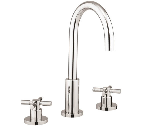 Crosswater Totti II 3 Hole Deck Mounted Basin Tap With Pop Up Waste