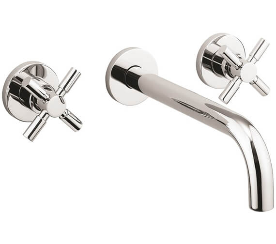 Crosswater Totti II 3 Hole Wall Mounted Basin Tap