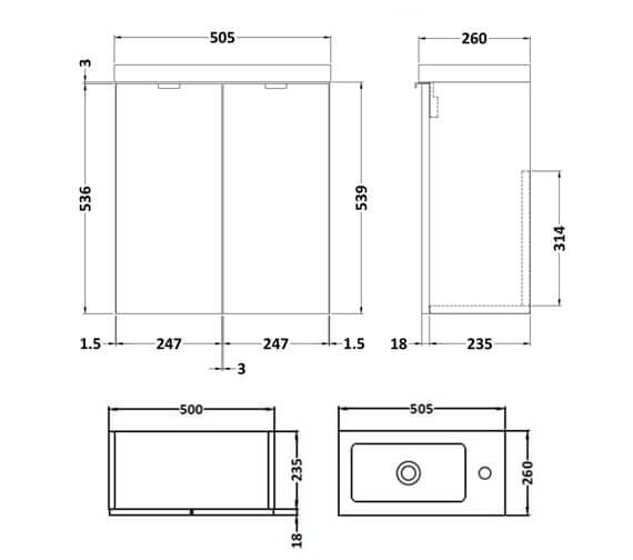 Technical drawing QS-V98040 / CBI138