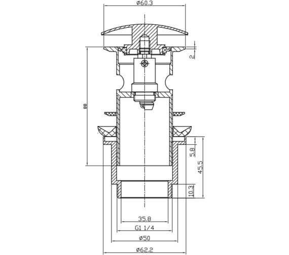 Technical drawing QS-V78061 / MBWA0104