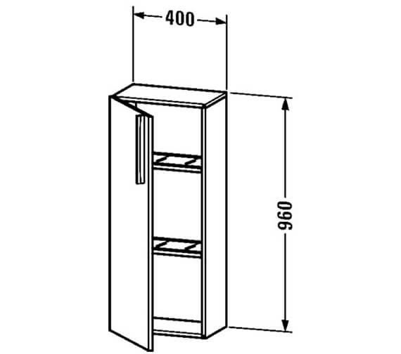 Technical drawing QS-V4401 / VE1105L1818