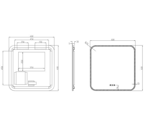 Technical drawing QS-V100595 / SE6060