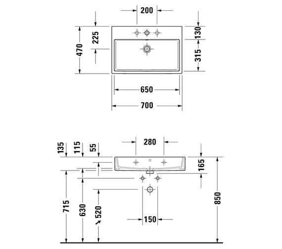 Technical drawing QS-V33535 / 2350500060