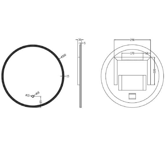 Technical drawing QS-V100593 / IF_MIRROR