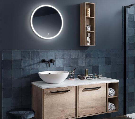 Alternate image of Crosswater Infinity LED Illuminated Round Mirror