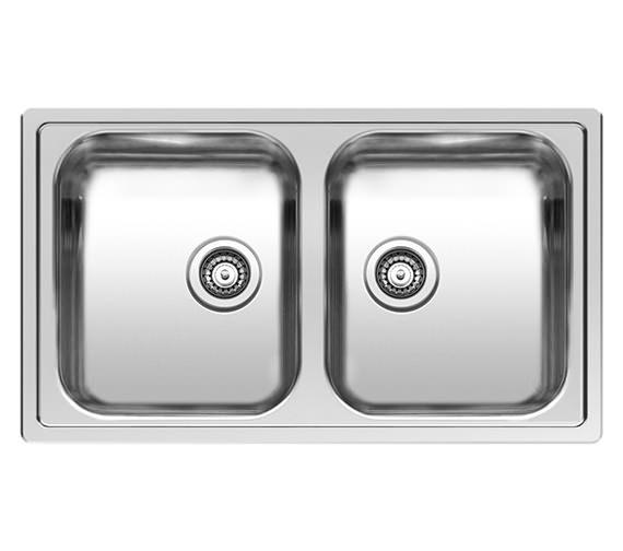 Reginox Centurio L20 Double Bowl Integrated Kitchen Sink 850 x 490mm