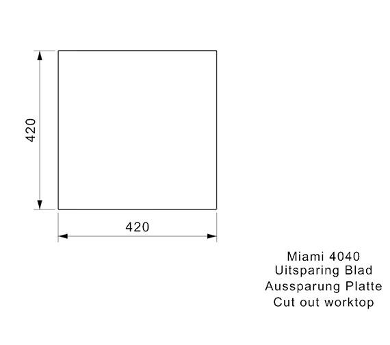 Additional image of Reginox Sinks  MIAMI 40X40 COPPER