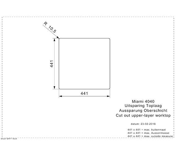 Additional image of Reginox Miami 440 x 440mm Single Bowl Kitchen Sink Copper Finish