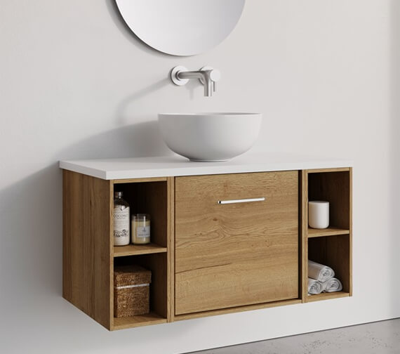 Crosswater Infinity 500mm Wide Wall Mounted Vanity Unit With Double Base Unit