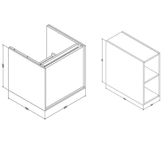 Technical drawing QS-V88810 / IF5000DWO