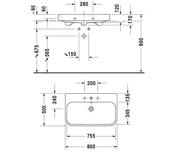 Technical drawing QS-V100651 / 2318600060