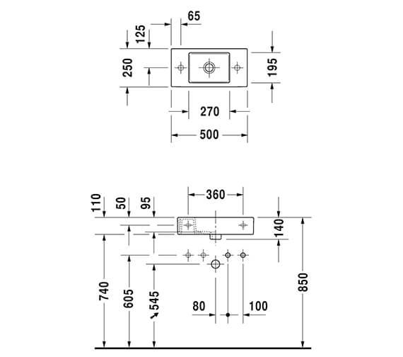 Technical drawing QS-V89448 / 724500000